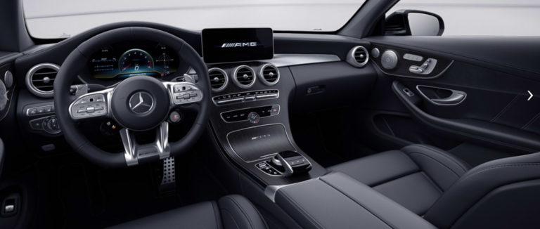 Mercedes C635 AMG Coupe Facelift von innen bei der Autovermietung mach2cars in Stuttgart