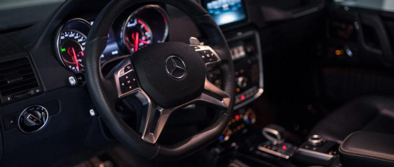 Mercedes G63 AMG von innen bei mach2cars in Stuttgart