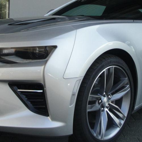 Chevrolet Camaro Coupe vorne links in der Autovemietung mach2cars in Stuttgart