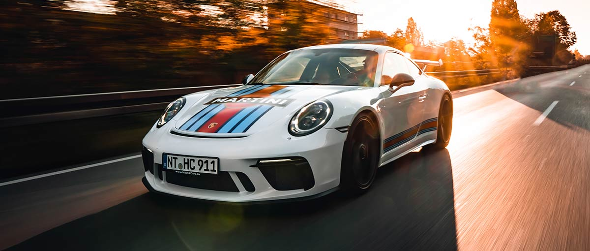 Fahrender Porsche 911 GT3